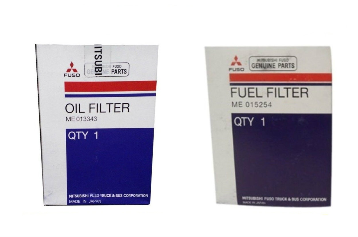 MITSUBISHI FUSO FUEL & OIL FILTER KIT FE/FG 1992-2004 ME013343 & ME015254