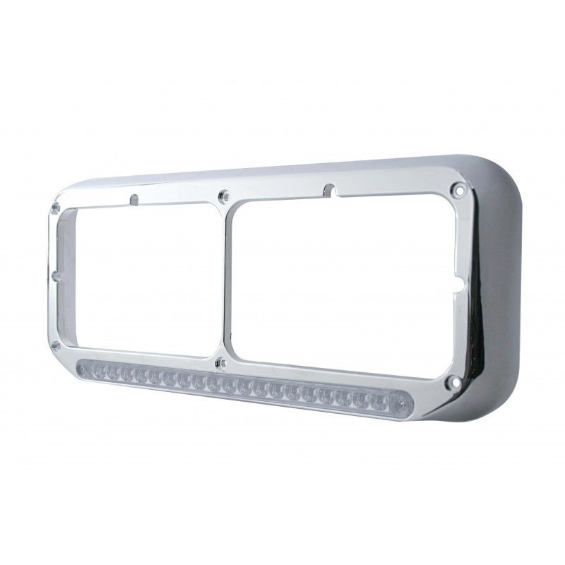 LED Dual Headlight Bezel -ALL TRUCK MAKES - (DRIVER SIDE) KENWORTH FORD