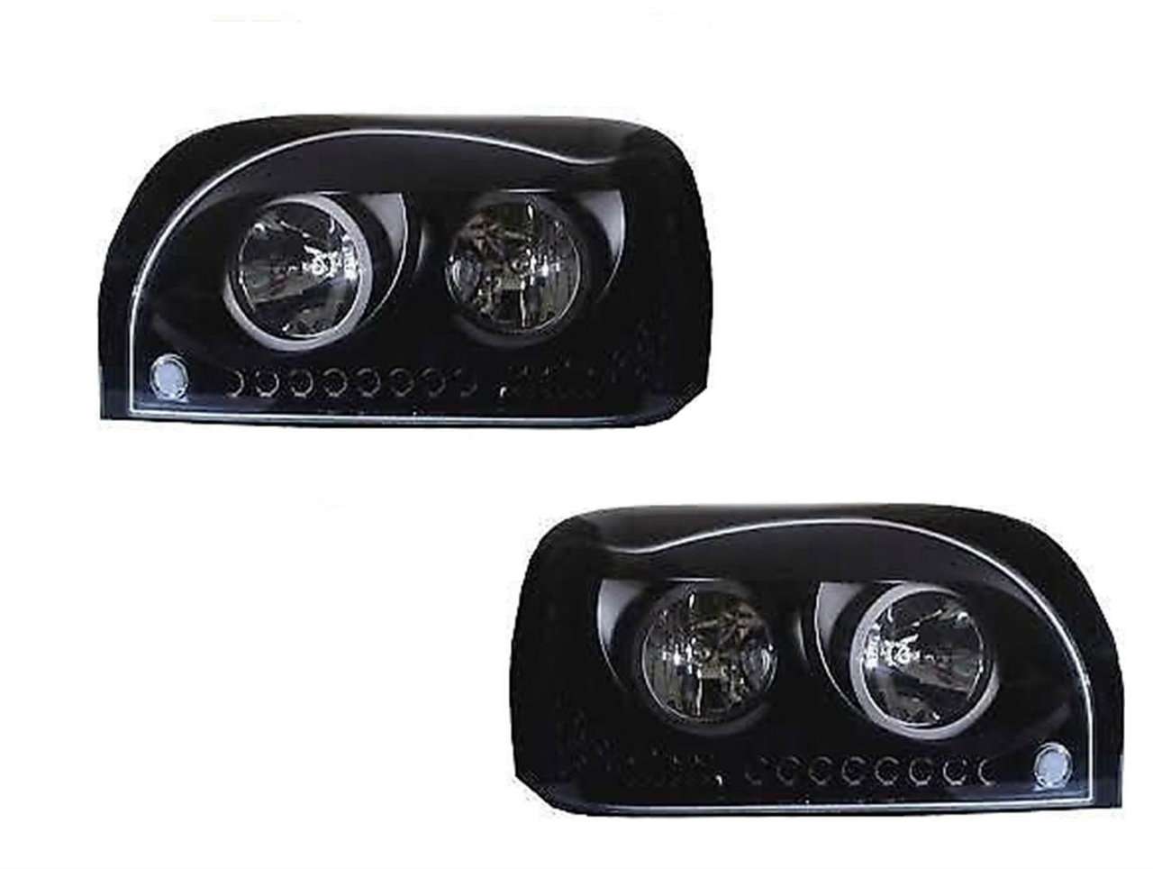 Freightliner Century Class Headlight (SET) W/Amber LED DayLight & Turn Signal LED