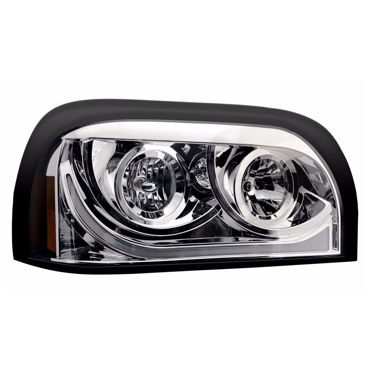 Freightliner Century LED Marker/Turn Chrome Headlight Assembly - Passenger Side