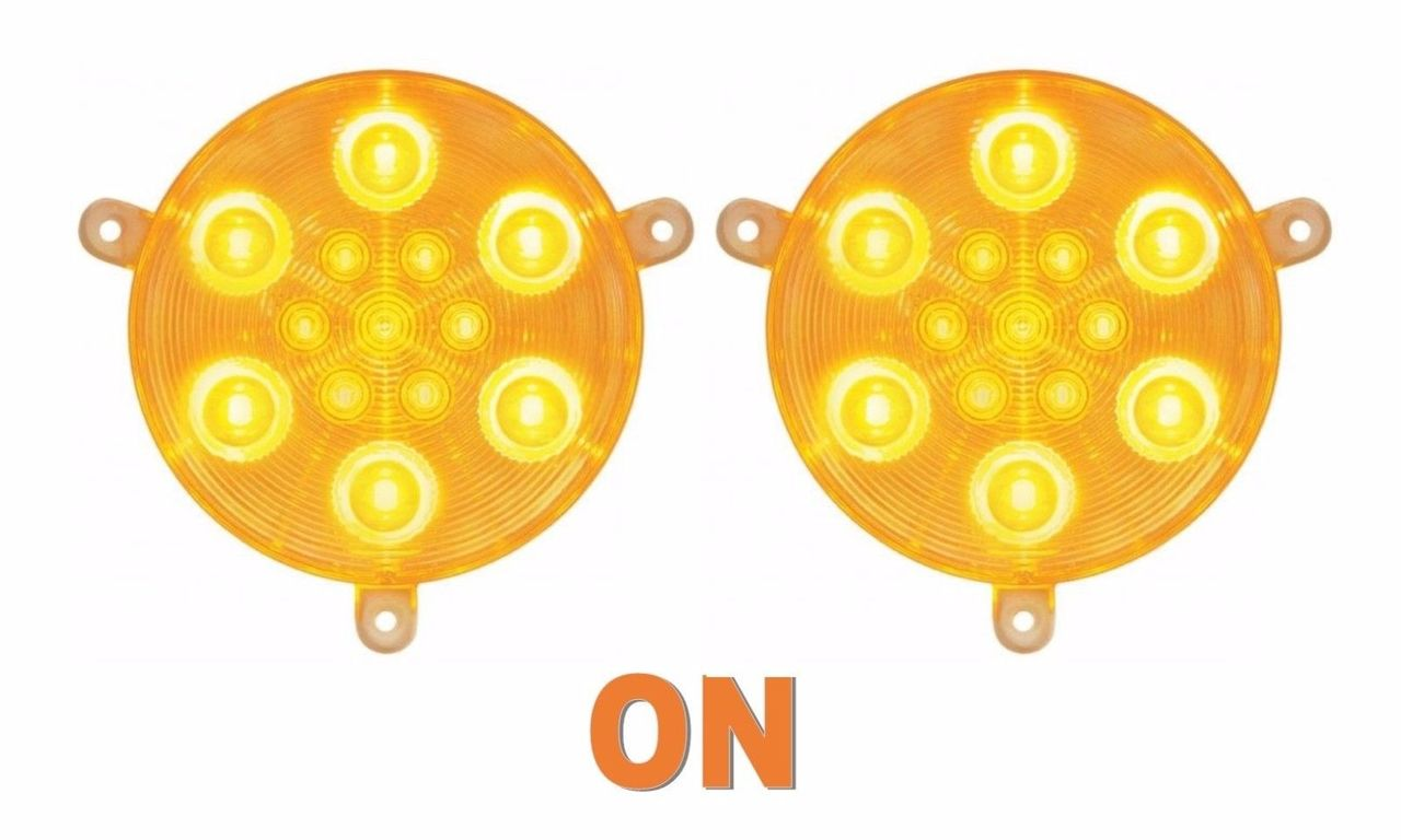Daytime Running Lights for Freightliner Century, 2005 & Newer, Amber LED/Clear Lens, Pair