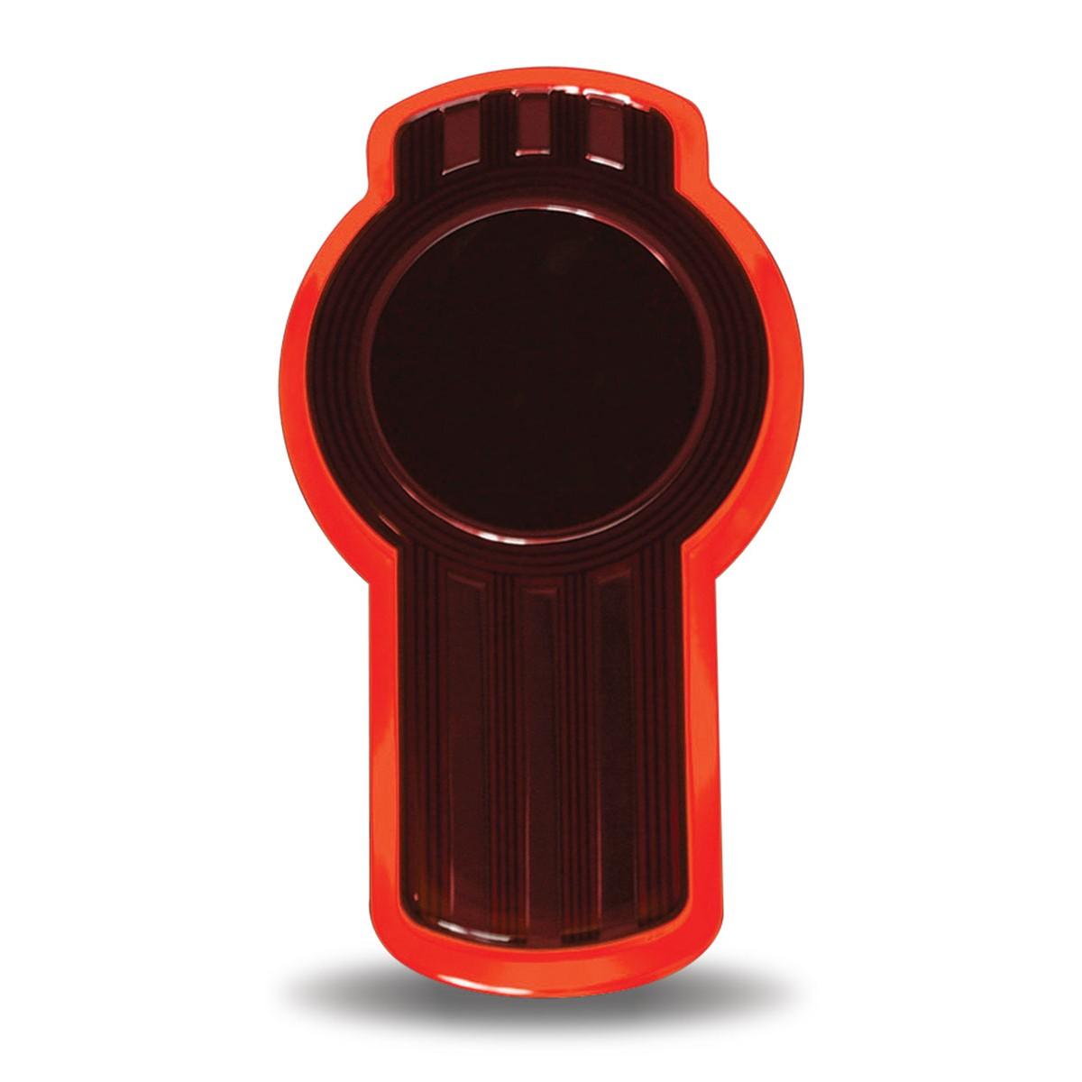 Kenworth hood emblem Red LED Keyhole light, New Design, Brighter Light
