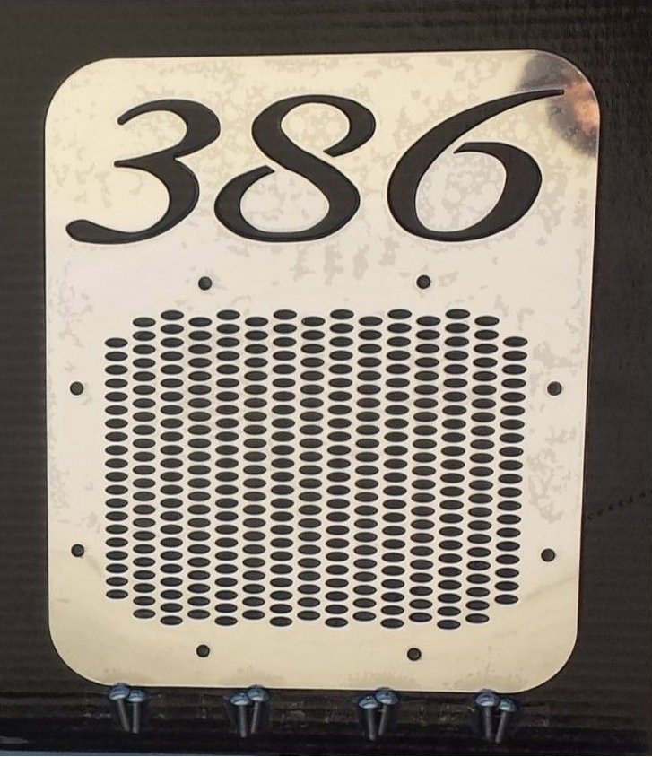 Peterbilt 386 Fresh Air Intake Cover- With Logo