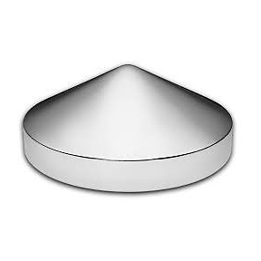 "Chrome Rear Pointed Hub Cap (8"") for Semi Truck Applications"
