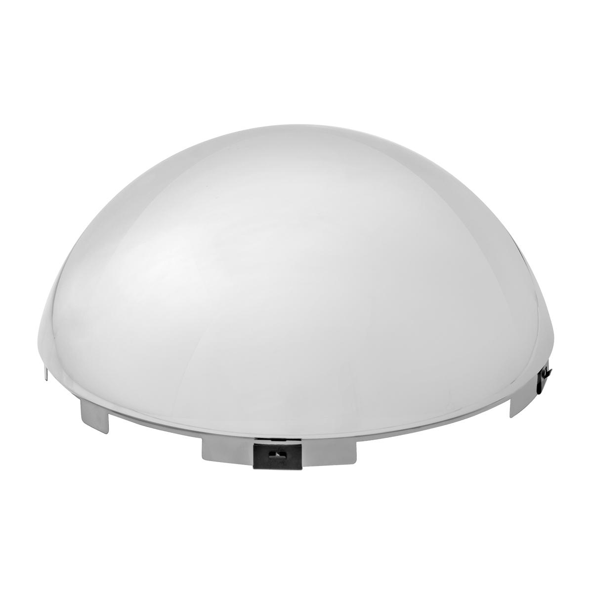 "Full Moon Chrome Front Hub cap - (6 notches/4 clips) 7/16"" Lip - Semi Trucks"