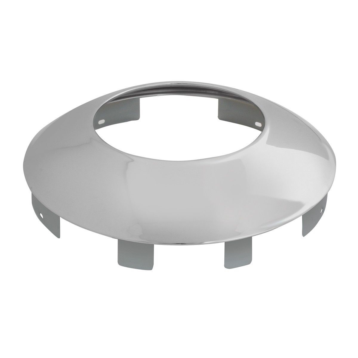 """Chrome Universal Hubdometer Front Hub Cap with 7/16"""" Lip and 6 Notches (1 each)"""