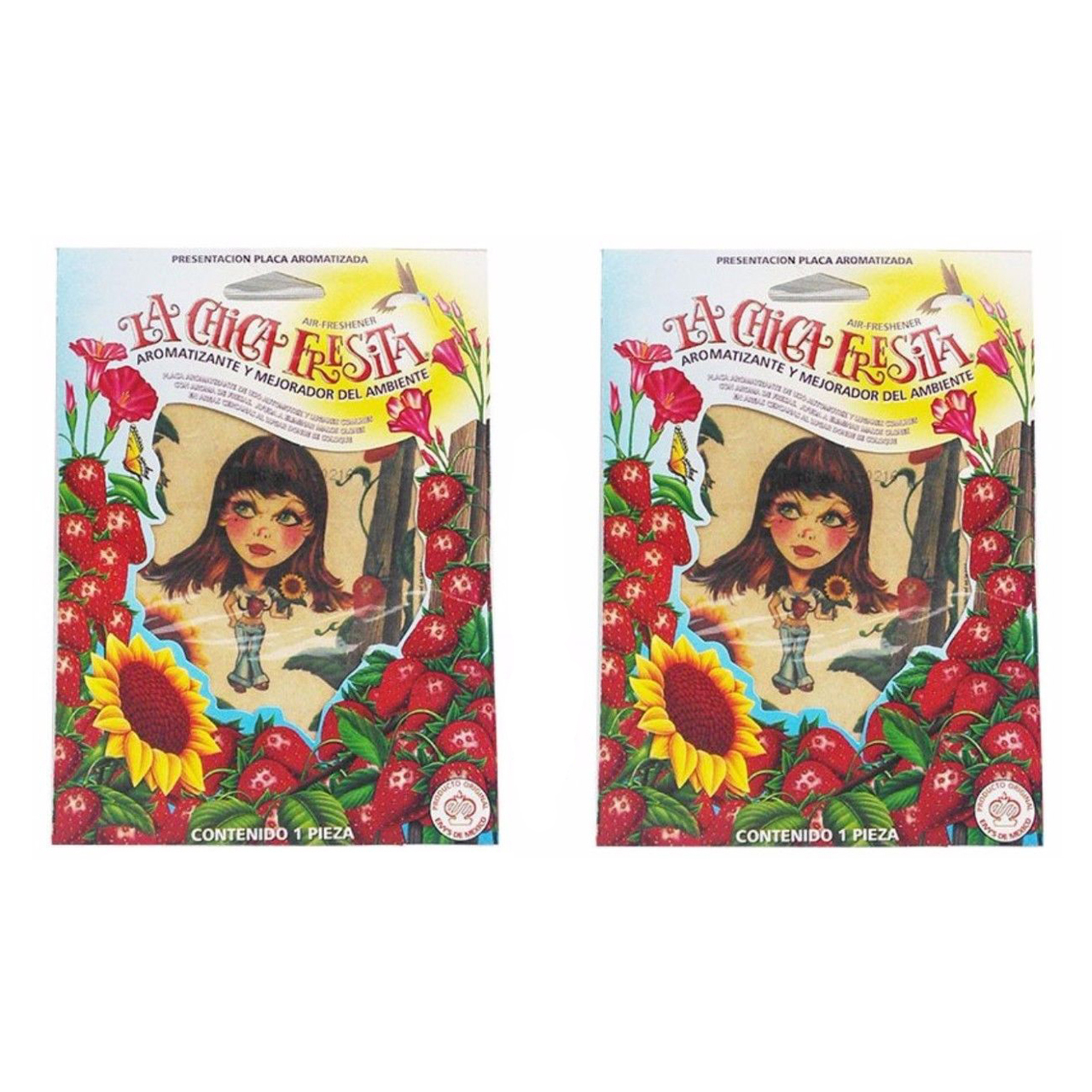 Car Air Freshener Deodorant with Strawberry Scent (2 PCS) - La Chica Fresita
