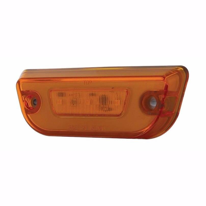 11 LED GLO Cab Lights for Peterbilt 579 & Kenworth T680, Amber Lens with Amber LED, Set of 5