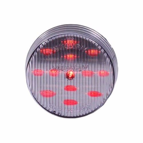 """Maxxima 2-1/2"""" Round Clearance Side Marker light 13 LED Red Clear Lens"""