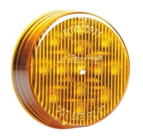 "Maxxima 2-1/2"" Round Clearance Side Marker light 13 LED Amber LED w/ Amber Lens"