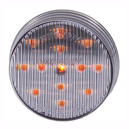 """Maxxima 2-1/2"""" Round Clearance Side Marker light 13 LED Amber/Clear Lens"""