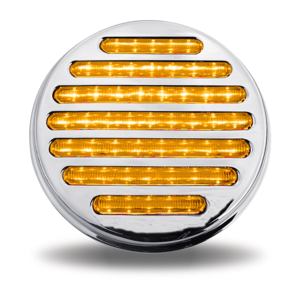 4'' Flatline (S/T/T) Amber LED with Clear Lens (49 Diodes)