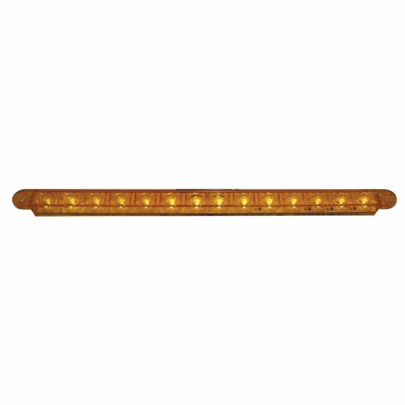 """14 LED 12"""" Turn Signal Light Bar- AmberLED with Amber Lens, Sequential LED"""