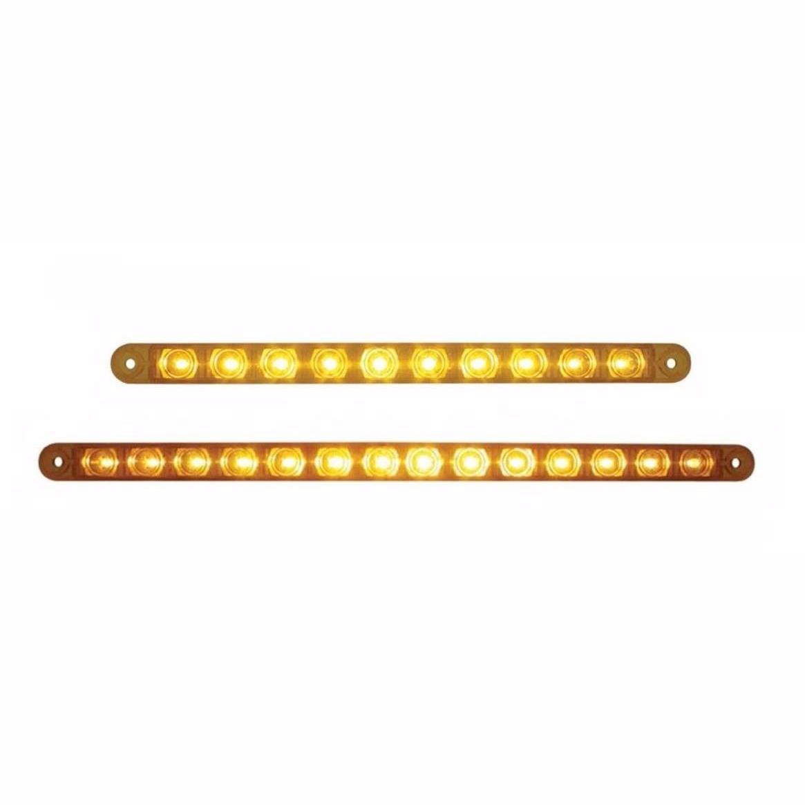 10 LED and 14 LED Turn Signal Light Bars (Amber/Amber) SET (#38942  #38946)