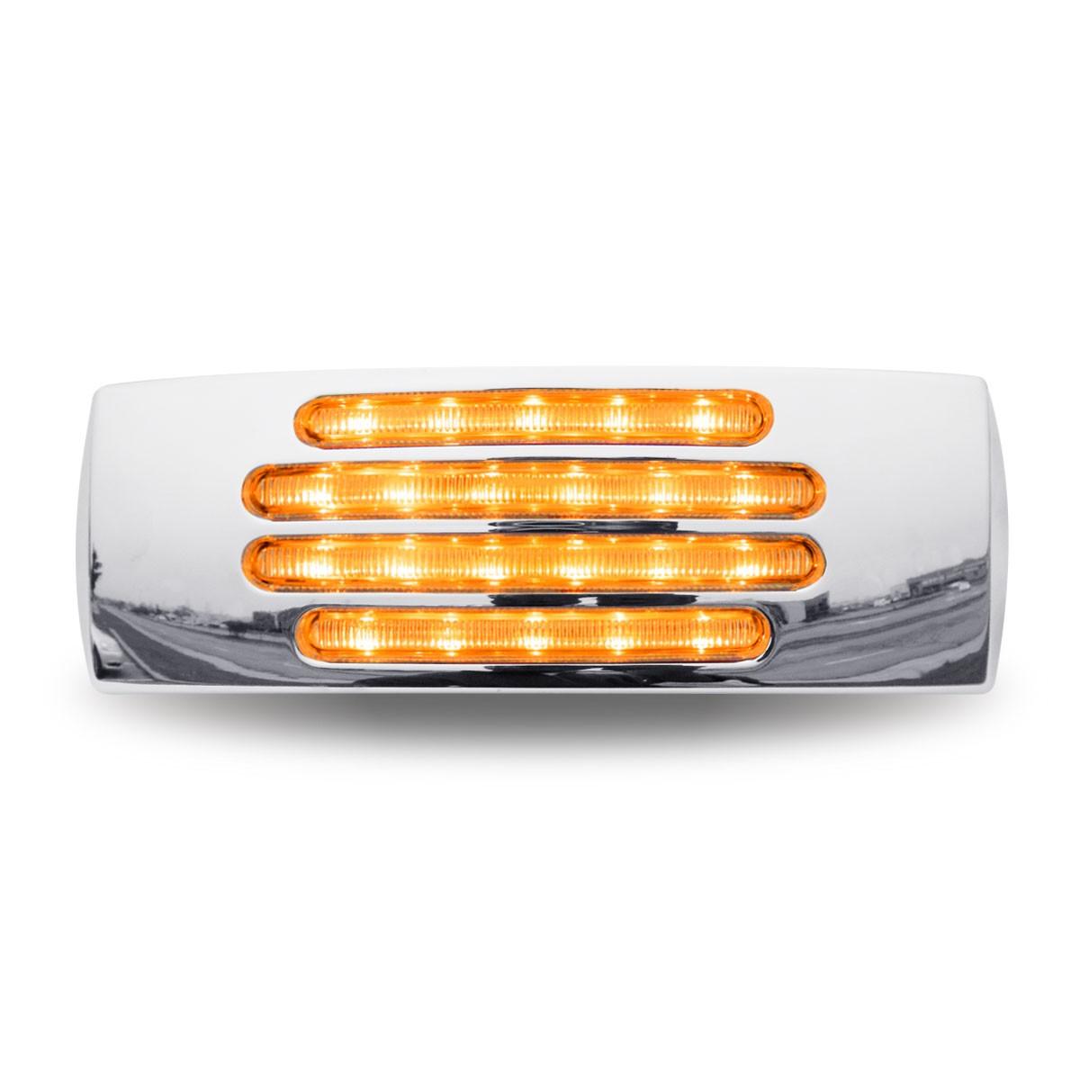 Flatline Rectangular Marker Clearance Light -  Amber LED With Clear Lens