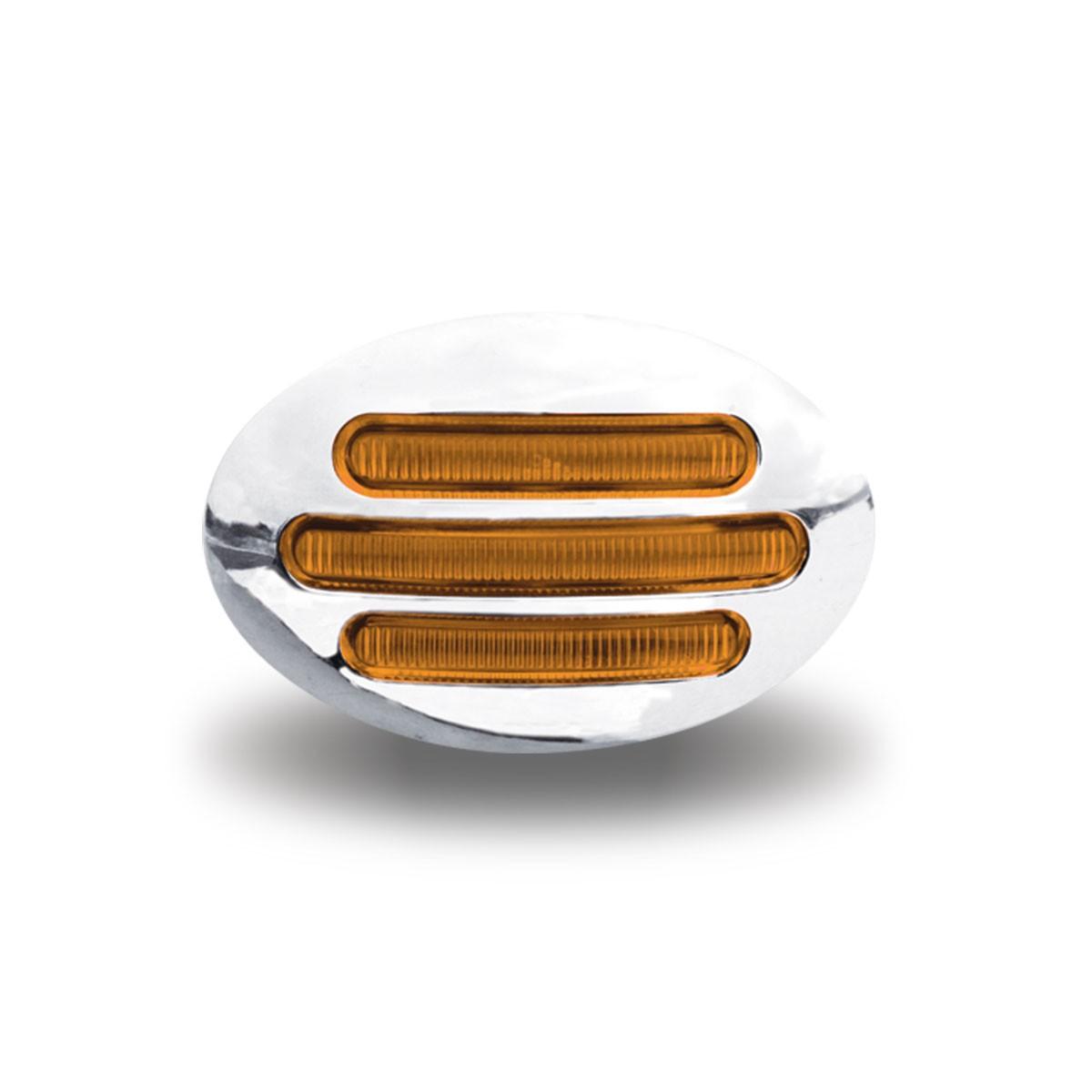 Flatline Amber LED (13 Diodes) Small Marker - Amber LED with Amber Lens
