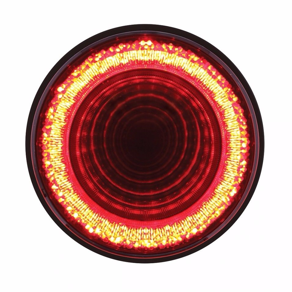 """24 LED 4"""" """"Mirage"""" Stop Turn Tail Light - Red LED with Red Lens"""