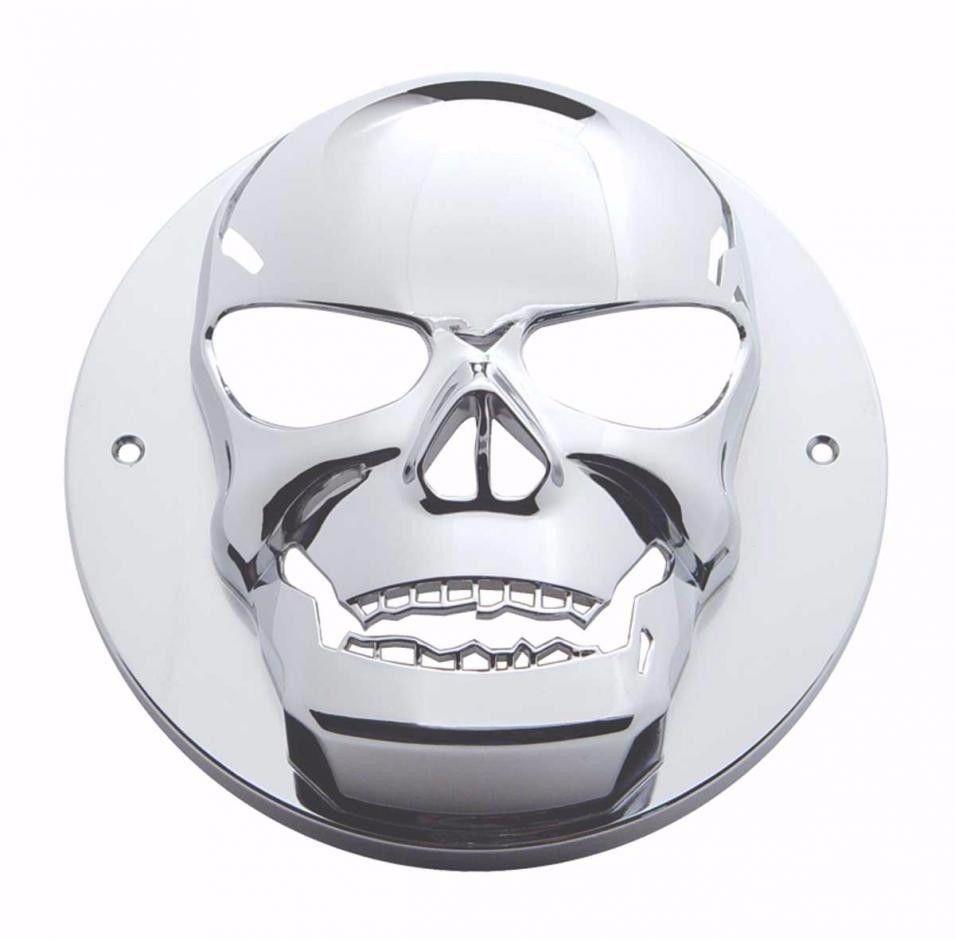 "2.5"" Skull Tail Light Bezel for Kenworth Peterbilt and All Semi-Trucks"