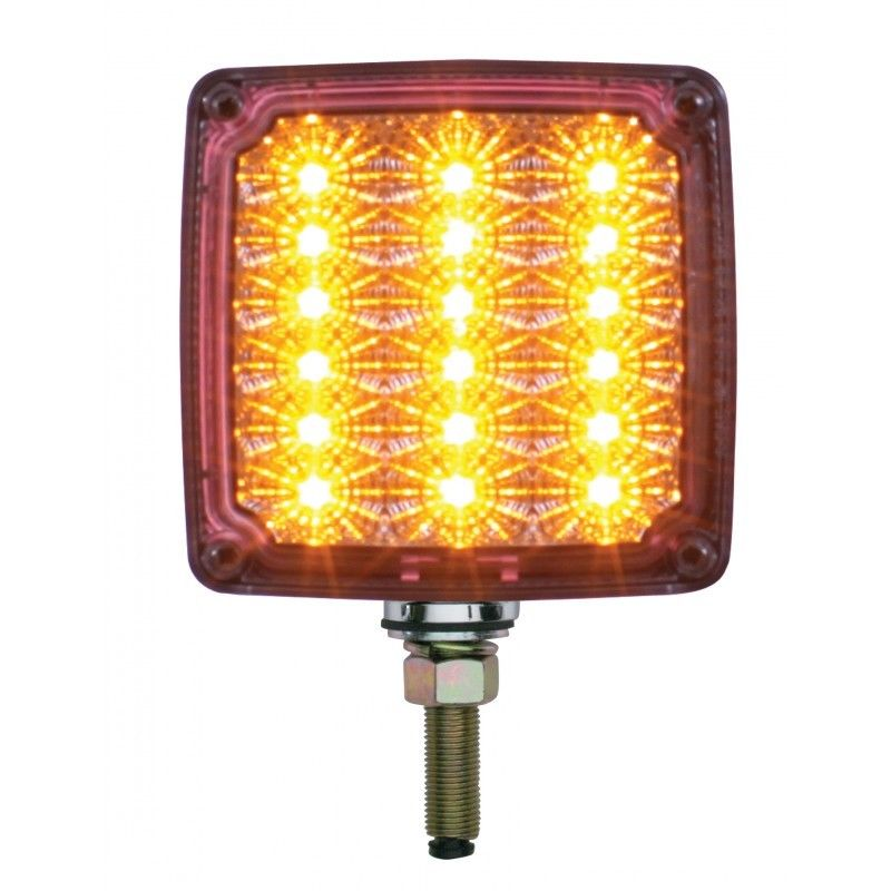 39 Amber//Red LED Reflector Double Face Turn Signal Driver Clear Lens