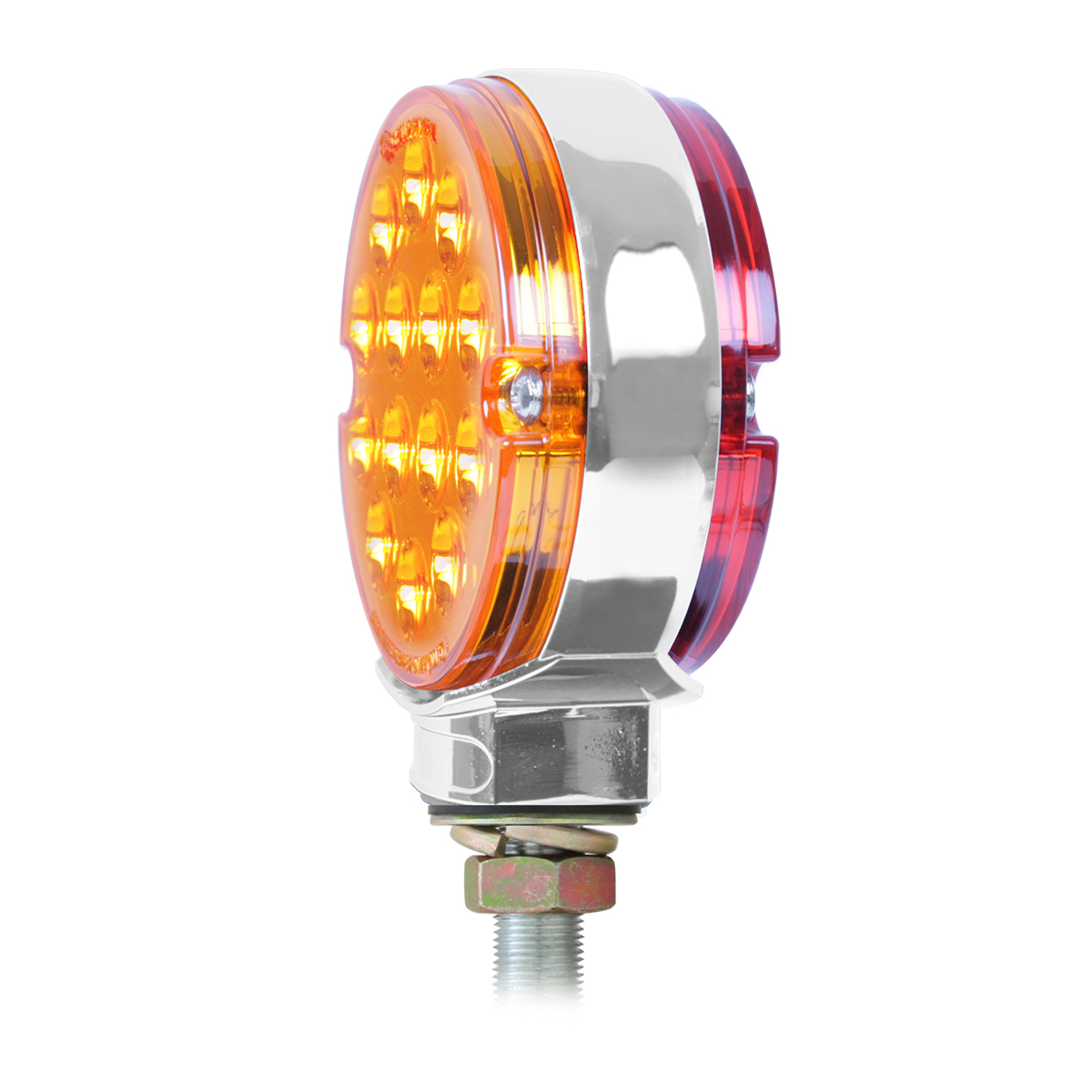 17 LED Double Face Light Turn Signal Semi Truck Fender Amber LED//Red LED