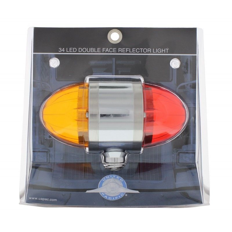 17 LED Watermelon Double Face Light Amber /& Red Lens Semi Truck Cab Auxiliary