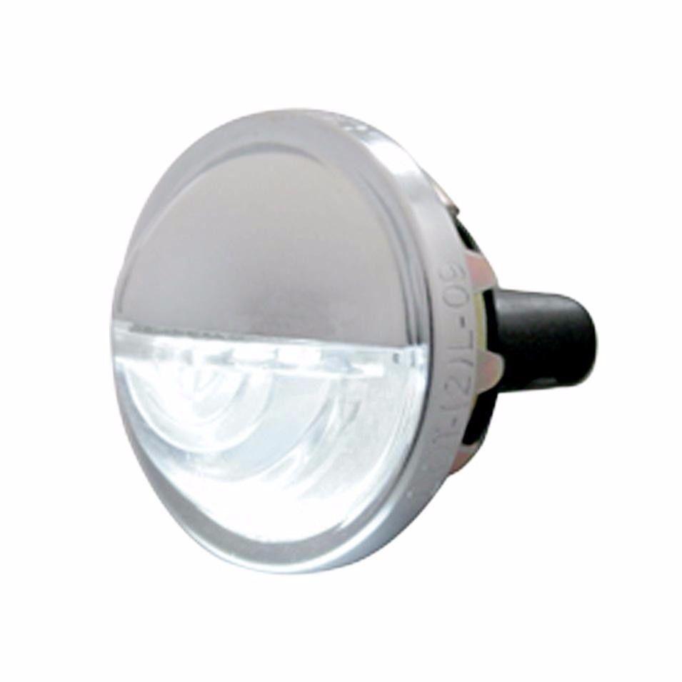 License Plate Light - Round Metal Housing - 4 LED White