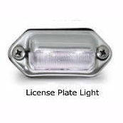 Chrome Plated Rear Center Panel with Red LED Lights (Red Lens) for Semi Trucks