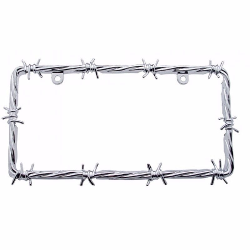 License Plate Frame - Barbed Wire