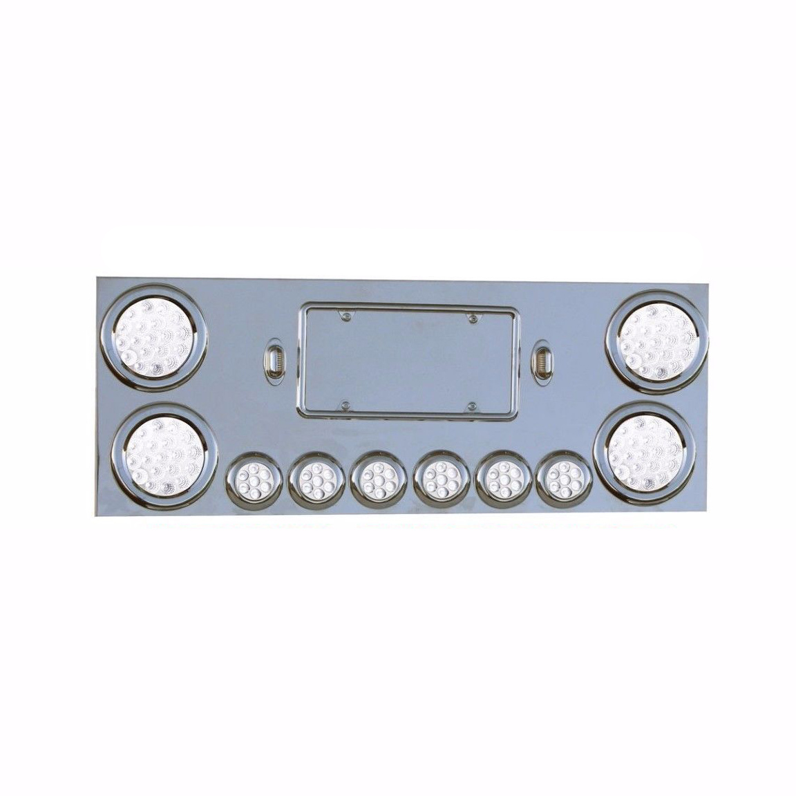 Rear Center Panel Stainless Steel w/ Dual Function (40 LED Lights) Chrome Plated