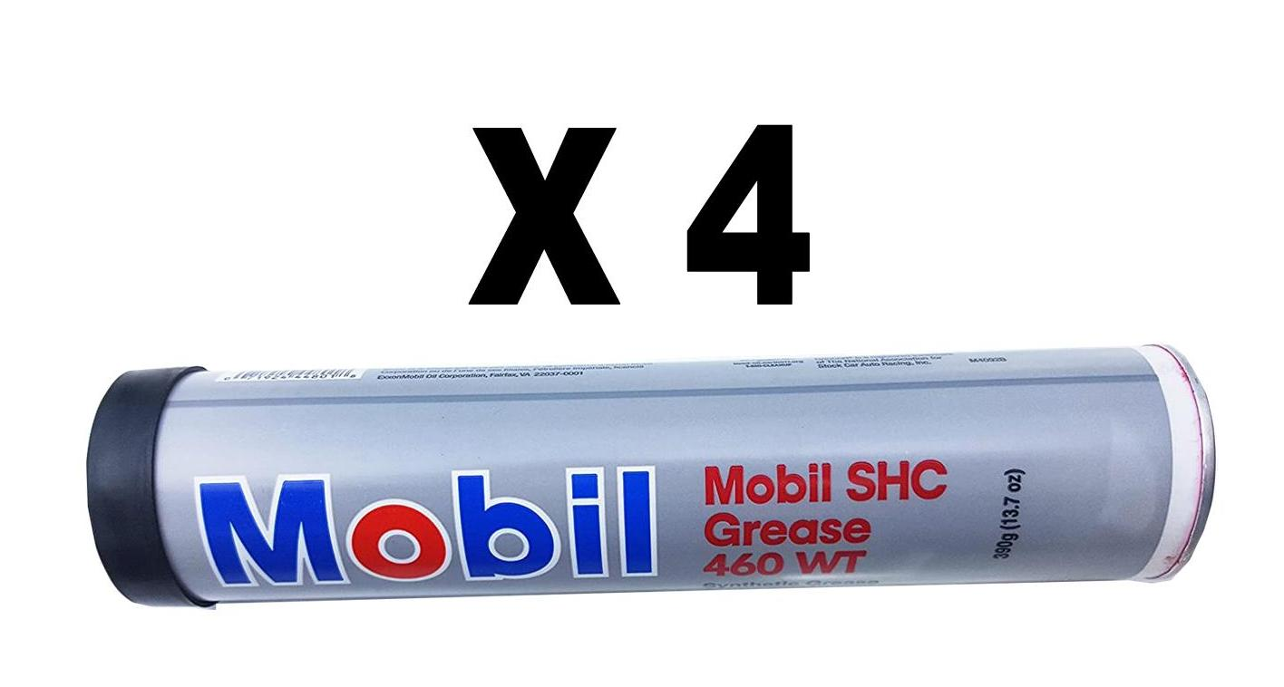 Mobil SHC 460 WT Synthetic Grease, Pack of 4