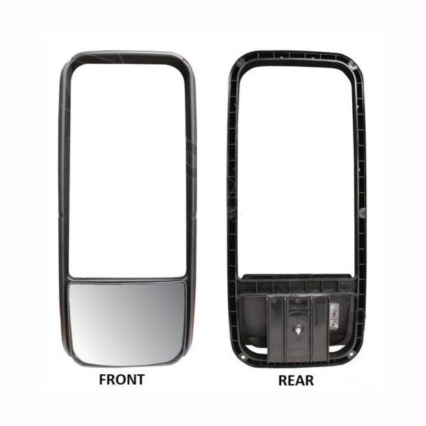 Kenworth T600 T660 T2000 PB 387 Upper & Lower Mirror Glass with Bezel (Heated)
