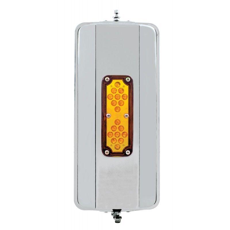 "LED Stainless Steel (HEATED) West Coast Mirror - 7"" x 16"""