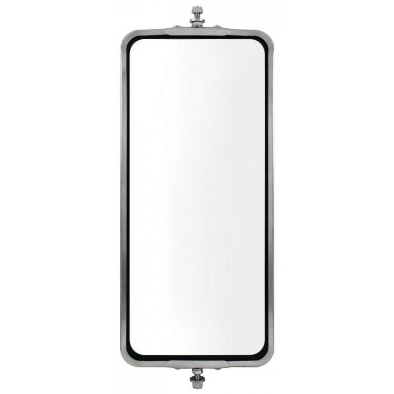 "Stainless Steel (HEATED) West Coast Mirror - 7"" x 16"""