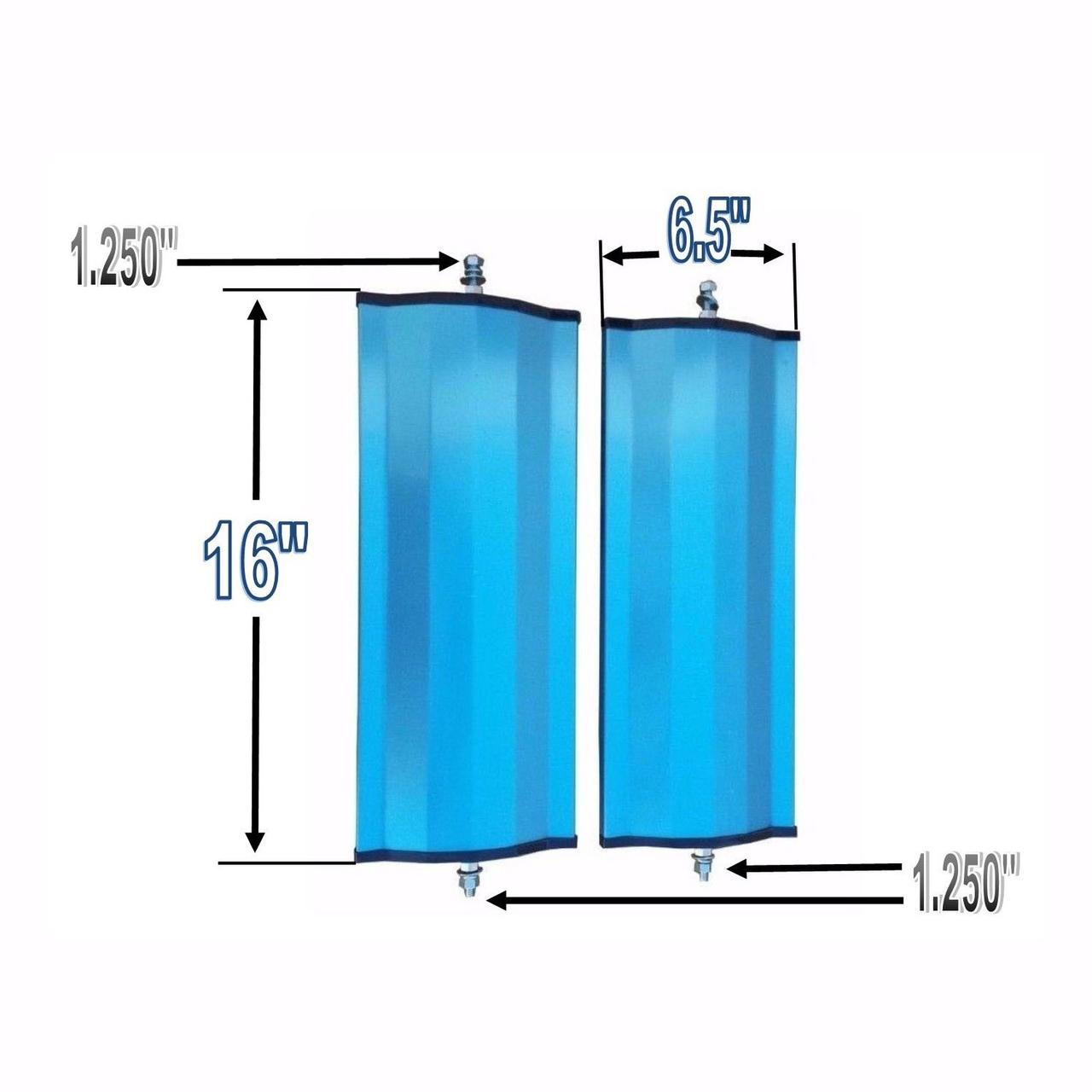 "West Coast (Set) Universal Stainless Aluminum Side Mirror Heads 6.5""x16"""