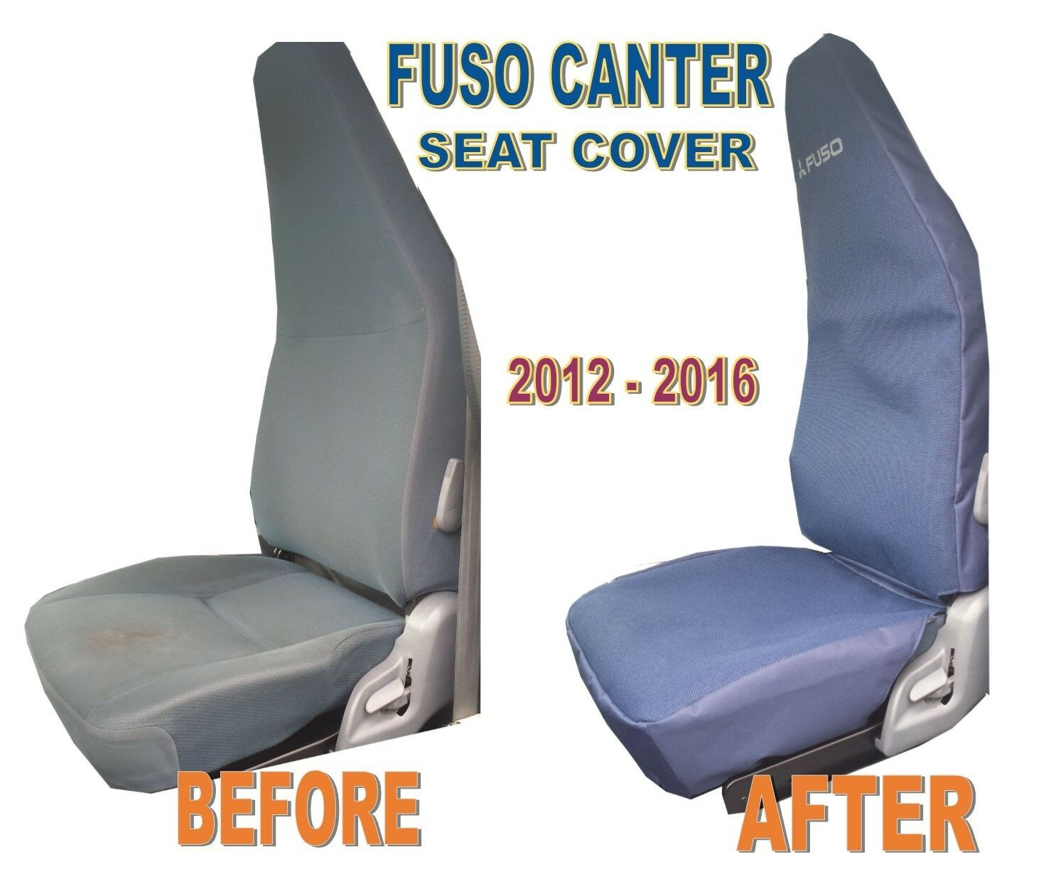 Mitsubishi Fuso Canter OEM Replacement Seat Cover for 2012-2016 Models, Driver Side