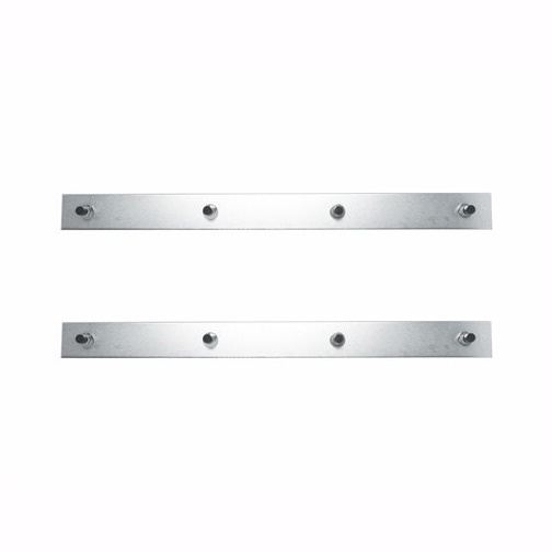 "Chrome 24"" x 2"" Top Mud Flap Plate, Mudflap Weights with 4 Studs, Pair"