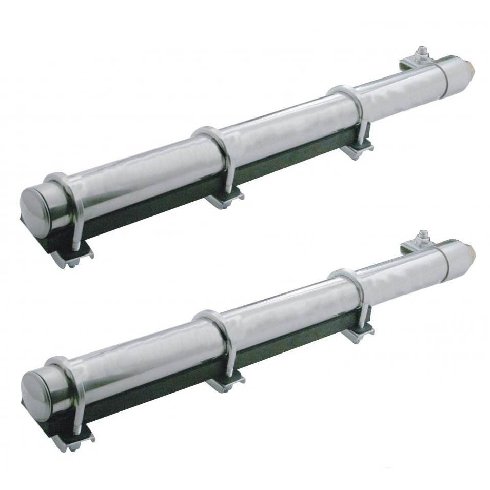 Quarter Fender Tube Brackets with U-Clamps, Pair