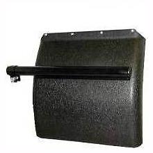 """Black Poly Quarter Fender Set for Freightliner, Kenworth, Peterbilt, 24""""x24"""""""