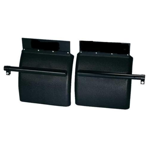 BLACK POLY Quarter Fender (24x24)KIT - Includes Mounting Posts (PAIR)