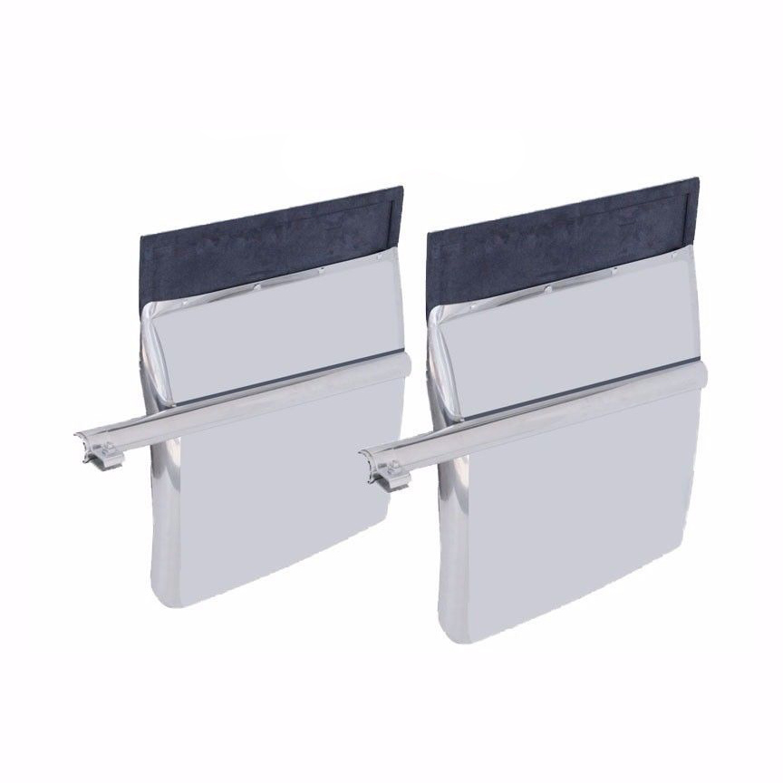 "Stainless Quarter Fender Set (24"" x 27"") PAIR"