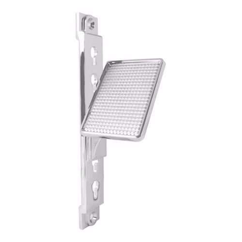 Truckers Adjustable Foot Rest, Chrome Aluminum