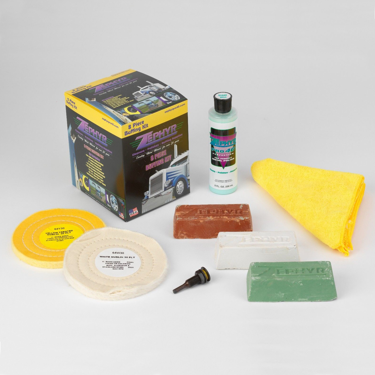 Zephyr (8 Piece) Buffing Kit