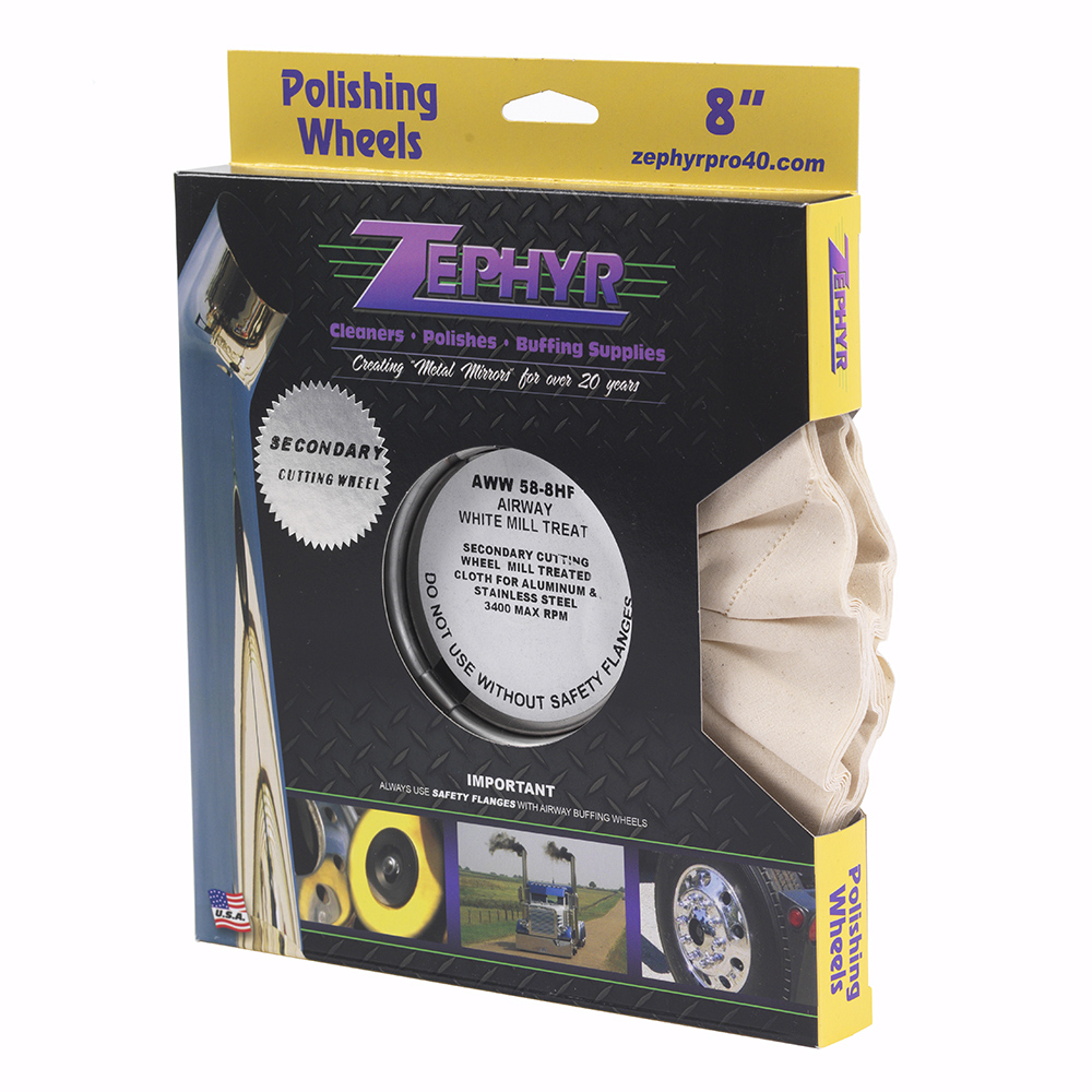 Zephyr Airway White Mill Treat (Untreated) Polishing Wheel AWW 58-8HF