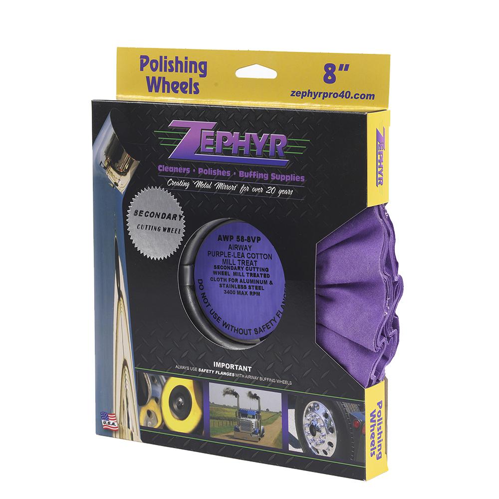 Zephyr Purple-Lea Airway Cotton Mill Treat 8‰Û_ - Secondary wheel for Aluminum & Steel