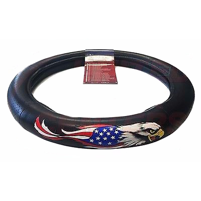 American Eagle Flag Steering Wheel Cover for Peterbilt Freightliner KW, 18""