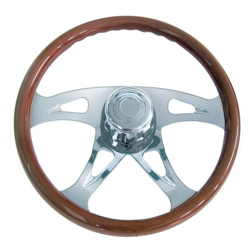 "18"" Chrome ""Boss"" Steering Wheel for Peterbilt & Kenworth"