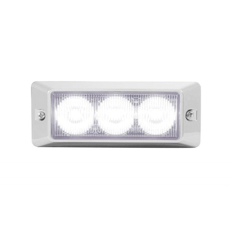 3 LED Warning Light, White
