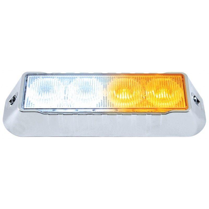 4 LED 12V/24V Strobe Light, 2 Amber & 2 White