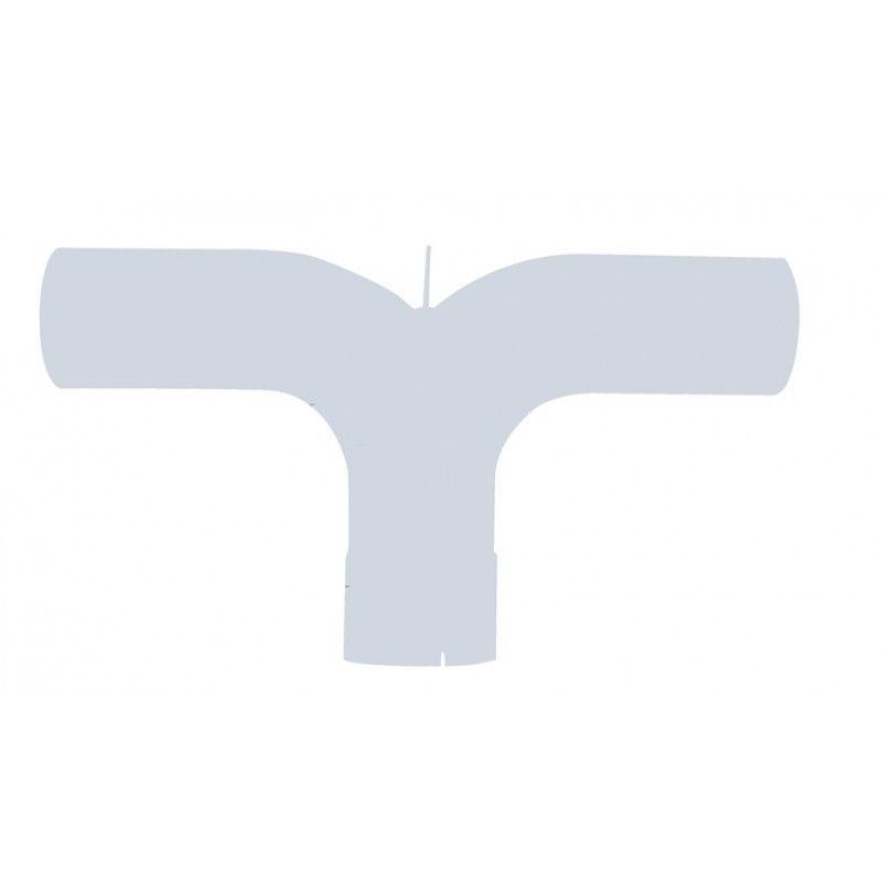 "5"" Aluminum Y Pipe Universal Application Peterbilt, Kenworth, Freightliner"