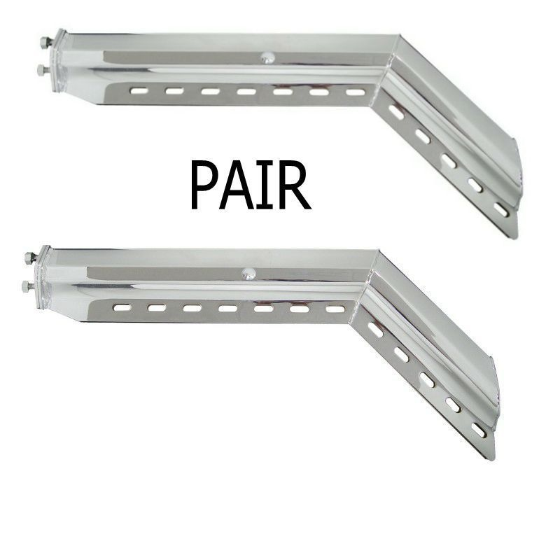 """45°  Angled Chromed (2.5"""") Mud Flap Hanger Set"""